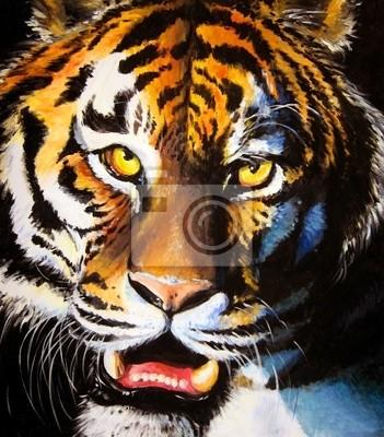 Tiger Acryl gemalt.
