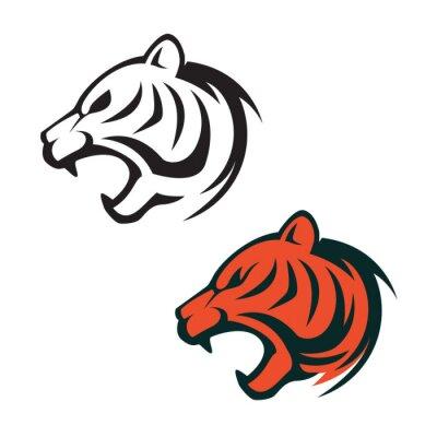 Tiger-kopf-logo-vorlage. design-element für label, zeichen, marke ...