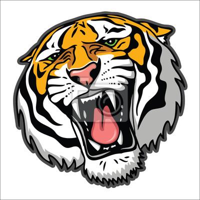 Tiger Kopf - Vektor-Illustration