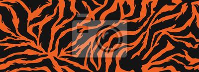 Bild Tiger stripes pattern, animal skin, line background. Vector seamles texture