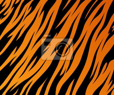 Bild Tiger texture abstract background orange black. Vector jungle strip