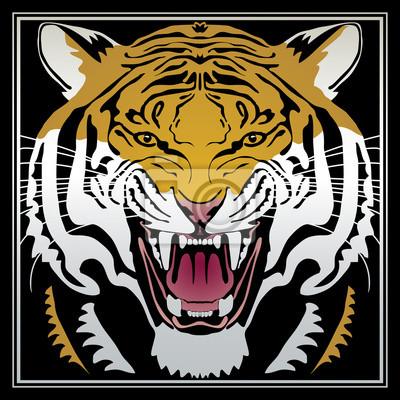 Tiger - Vector Illustration eines Tigerkopf