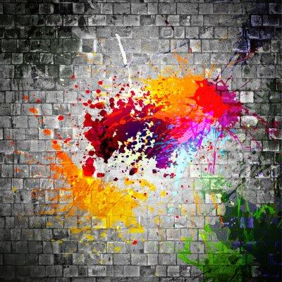Bild Tinte Splatter auf Steinmauer