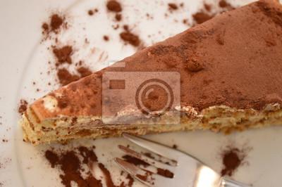 Tiramisu Nachtisch Italienischer Susser Kuchen Leinwandbilder