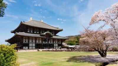 Bild Todaiji-Tempel in der Sakura-Saison in Nara, Japan