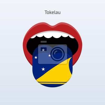 Tokelau Sprache. Abstrakt menschliche Zunge.