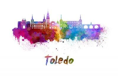 Bild Toledo skyline in watercolor