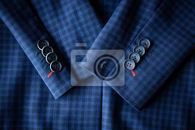 Bild Top view of the Blue suit with sleeves with buttons. Bird eye view of the Long sleeved blue suit.