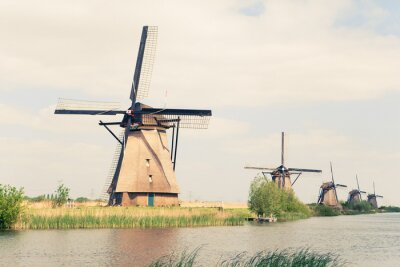 Bild traditional windmills in Netherlands