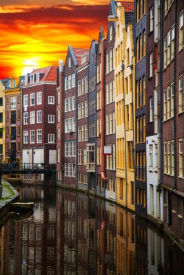 Bild Traditionelle alte Gebäude in Amsterdam