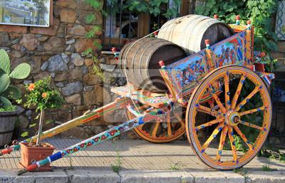 Traditionelle sizilianische Warenkorb