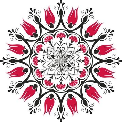 traditionellen osmanischen Tulpe & Nelke