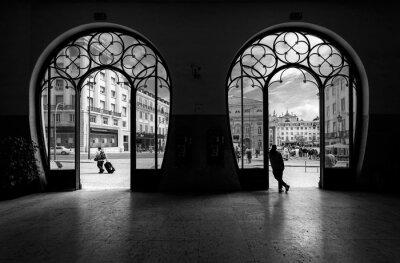 Bild Train station Rossio. Old city of Lisbon. Portugal.