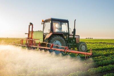 Bild Traktor Sprühen Sojabohne