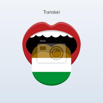 Transkei Sprache. Abstrakt menschliche Zunge.