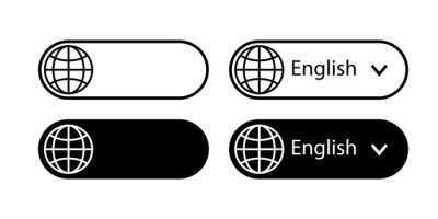 Bild Translate vector icon. Change language button isolated on white background. Vector illustration.