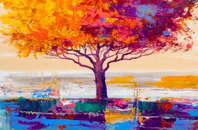 Bild Tree oil painting, artistic background