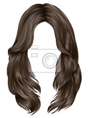 Bild Trendige Frau Lange Haare Blonde Farben Schonheit Mode Realistisch