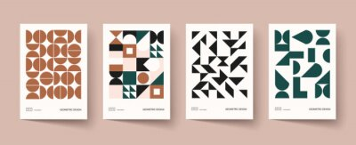 Bild Trendy covers design. Minimal geometric shapes compositions. Applicable for brochures, posters, covers and banners.