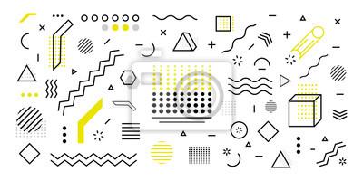 Bild Trendy geometric shape background. Minimal poster 3d shape abstract. Simple element illustration. Vector