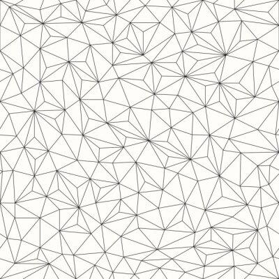 Bild Triangles background, seamless pattern, line design