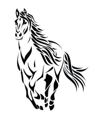 Tribal laufenden Pferd