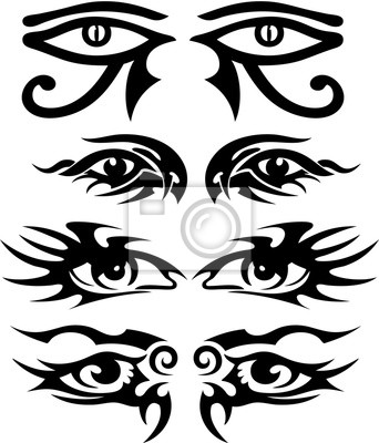 Tribal tattoo designs augen 1 muster leinwandbilder • bilder Wirbel ...