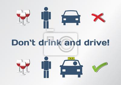 Trinken Sie nicht und fahren Konzept