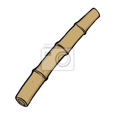 Trocken Bambus Cartoon Vektor Und Illustration Hand Gezeichnet