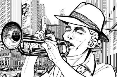 Bild Trompeter in New York