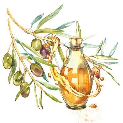 Bild Tropfen und Spritzer von Olivenöl.