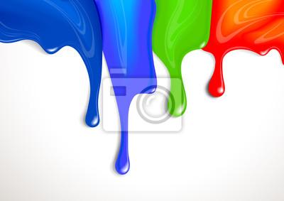 Bild Tropft der Farbe