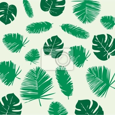 Tropische Blätter nahtlose Muster