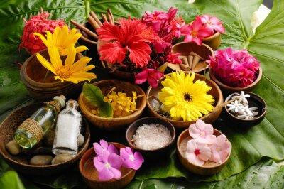 Bild Tropische Blume Spa-Set