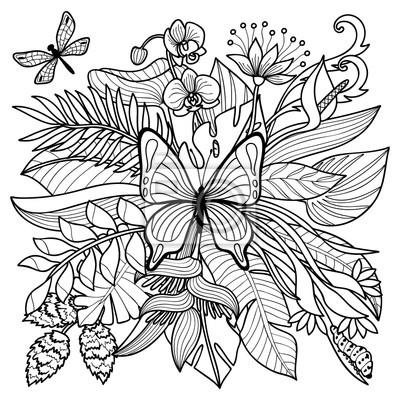 Tropische malvorlagen leinwandbilder • bilder Philodendron, monstera ...