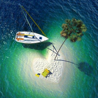 Bild Tropisches Paradies auf einer kleinen Insel