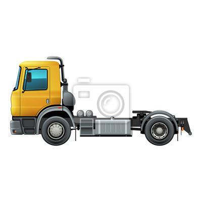 Truck isolated vector illustration side view