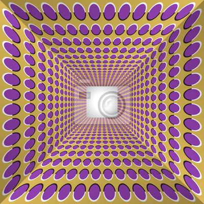 Tunnel mit Tupfen Wände. Zusammenfassung Hintergrund mit der optischen Täuschung der Bewegung.
