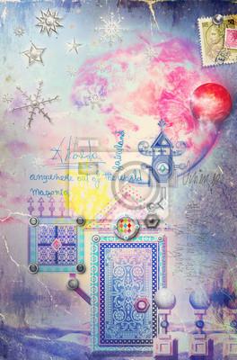 Tür in der Märchenlandschaft