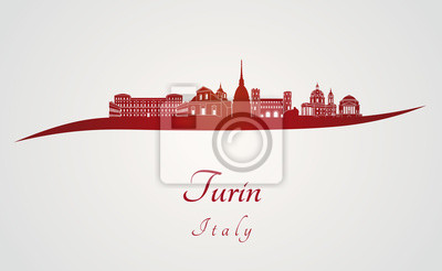 Bild Turin Skyline in rot