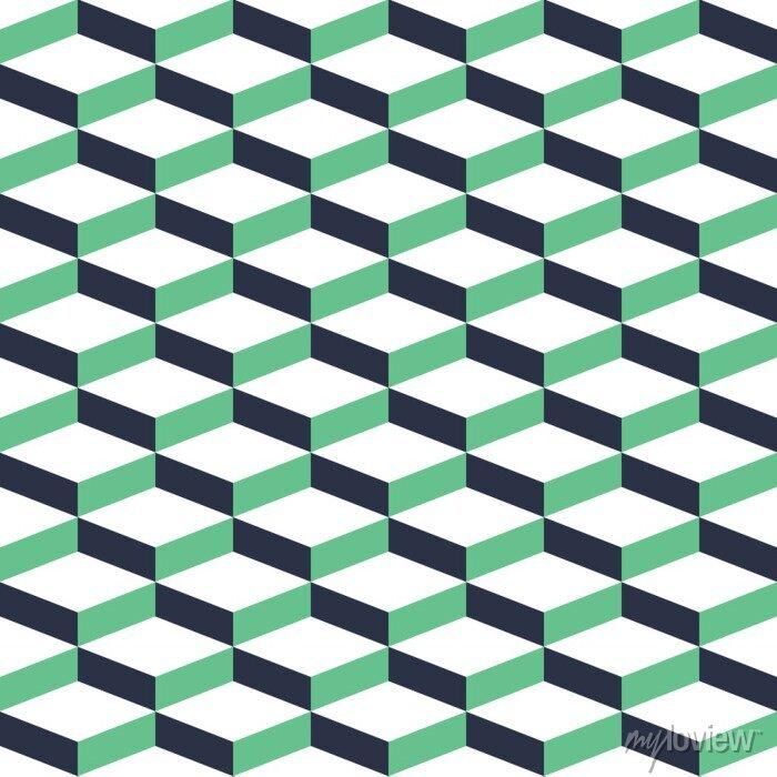 Bild Türkis Geometrische Illusion Nahtlose Muster