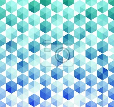 Türkis und blaue Sechsecke Nahtlose Muster