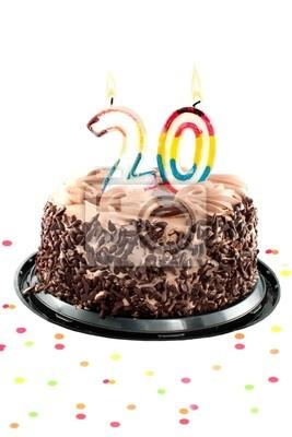 Twentieth Geburtstag oder Jubiläum