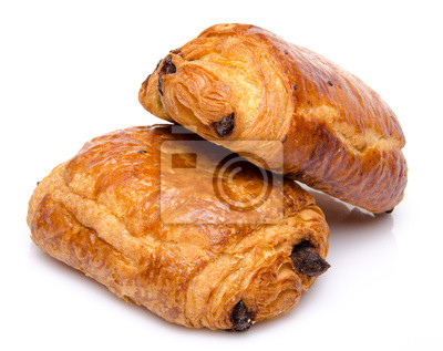 Bild Two fresh chocolate croissant