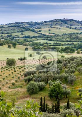 Typische toskanische Landschaft in Italien