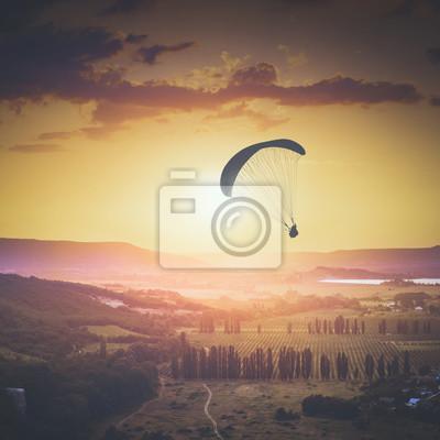 Über dem Kachinskaja-Tal Instagram-Stilisierung