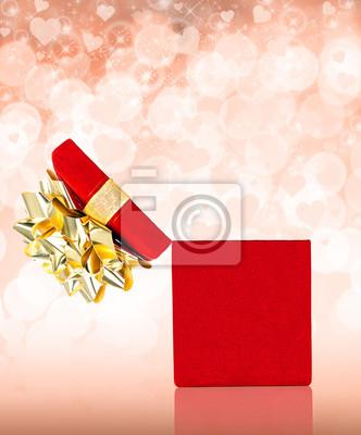 Überraschung Valentinstag Geschenk-Box mit Textfreiraum