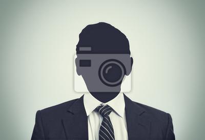 Unbekannte Person Silhouette