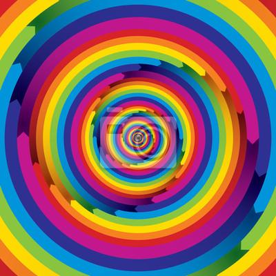 Unendliche pfeilförmigen Spirale Regenbogen Elemente.