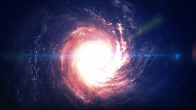 Bild Unglaublich schöne Spiralgalaxie irgendwo im Weltraum. Elemente dieses Bildes von der NASA eingerichtet